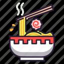 japan, noodle, soup, ramen, chopstick icon