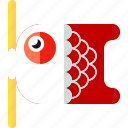 fish, flag, koi, koinobori icon