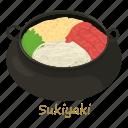 beaf, cartoon, fish, food, fry, sukiyaki, sushi