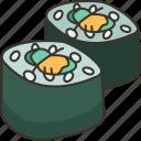 kappamaki, sushi, seaweed, japanese, meal