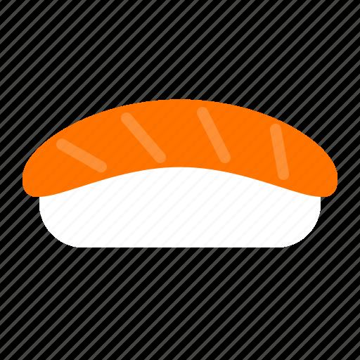 food, japan, rice, salmon, sushi icon