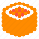 california maki, food, japan, maki, roll, sushi icon