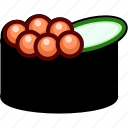 food, gunkan, ikura, japan, japanese, seafood, sushi icon