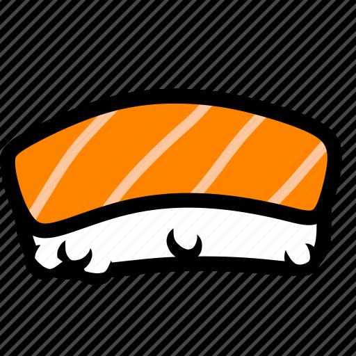 eating, food, japan, japanese, salmon, seafood, sushi icon