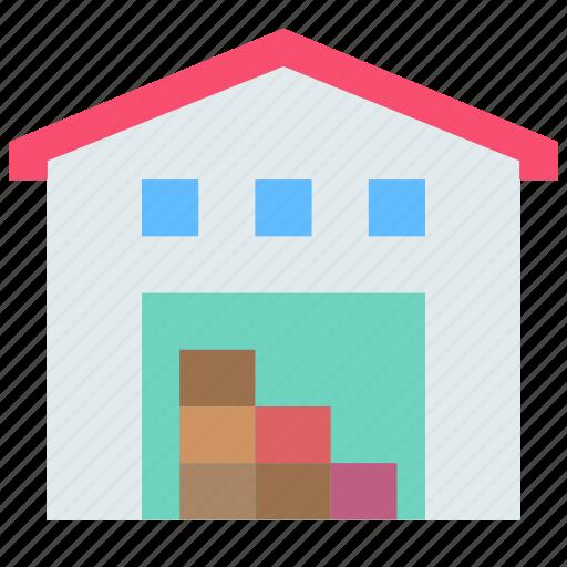building, storage, warehouse icon