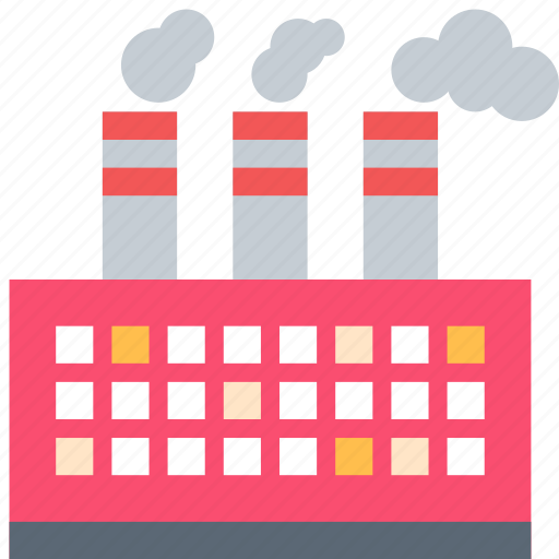 factory, manufacturer, refinery icon