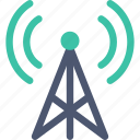 radio, station, tower icon