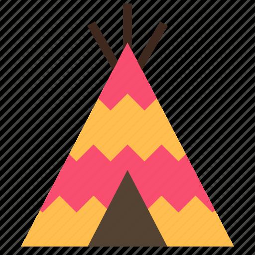 camp, tent, wigwam icon