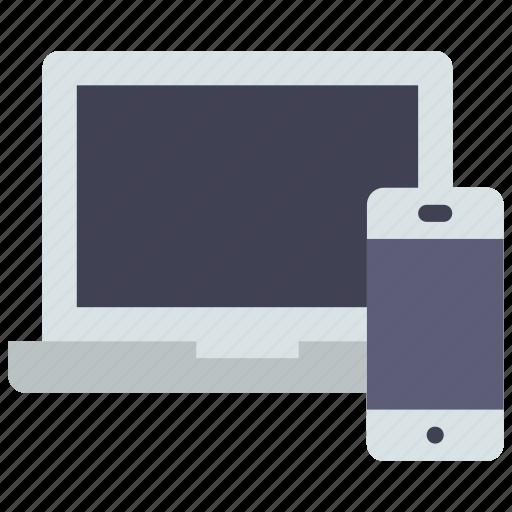 devices, laptop, smartphone icon