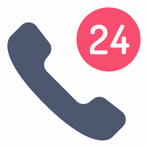 all time, phone, support icon