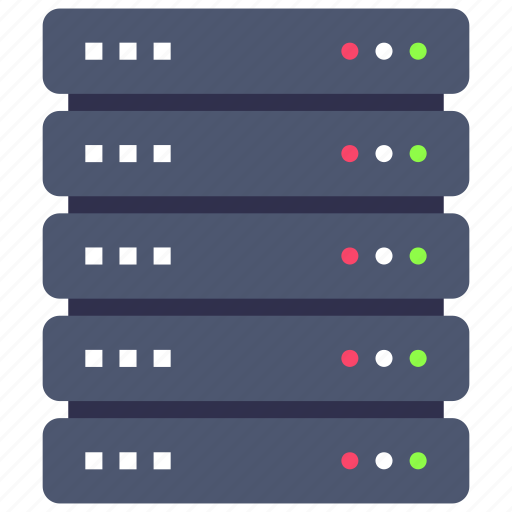 database, rack, server icon