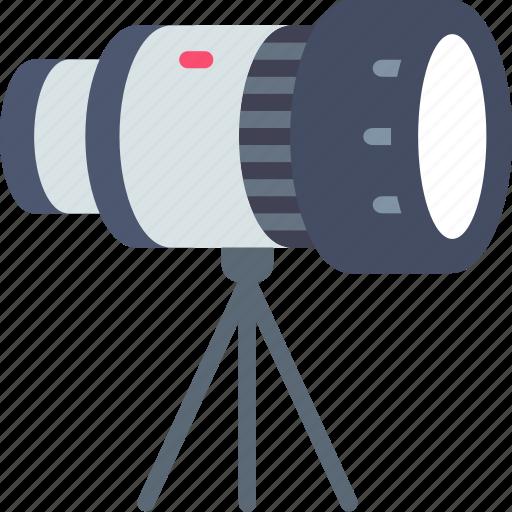 camera, telescope, tripod icon