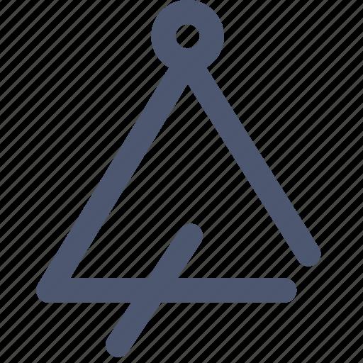 instrument, music, triangle icon