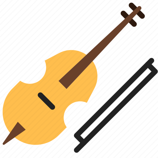 instrument, violin, violincello icon
