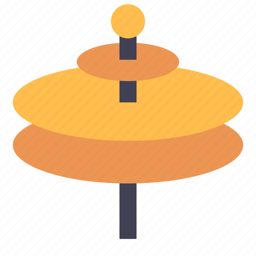 cymbals, drums, instrument icon