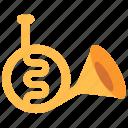 horn, instrument, trumpet icon