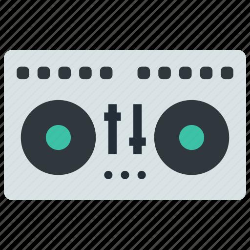 dj, mixing, vynil icon