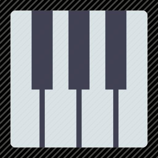 keyboard, music, piano icon