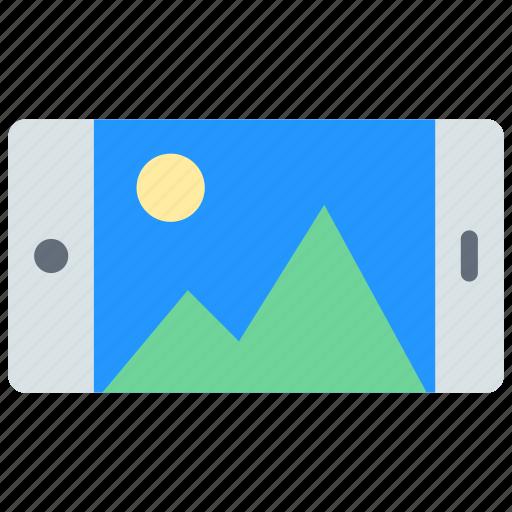 device, landscape, smartphone icon