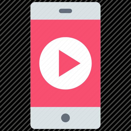 mobile, smartphone, video icon