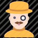 hat, man, millionaire, mustache icon
