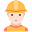 builder, industrial, man, working
