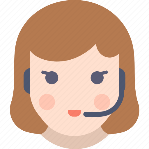Call, center, girl, support icon - Download on Iconfinder