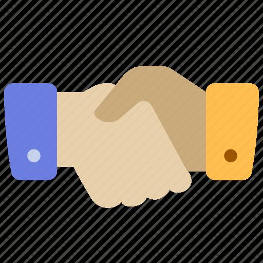 hand, handshake, partner icon