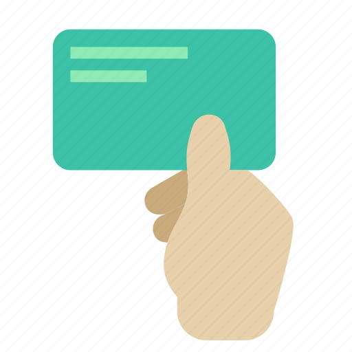 business, card, hand icon