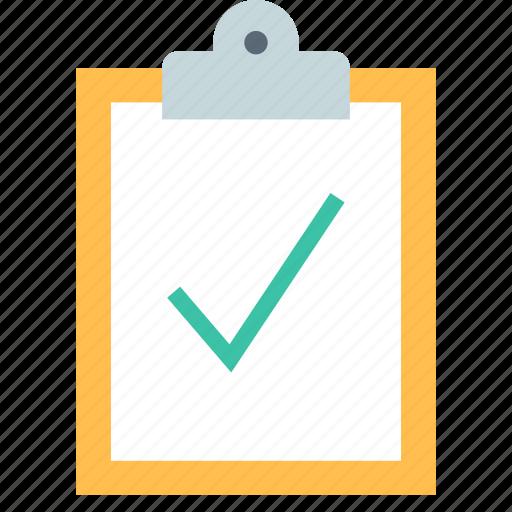 clipboard, done, success icon