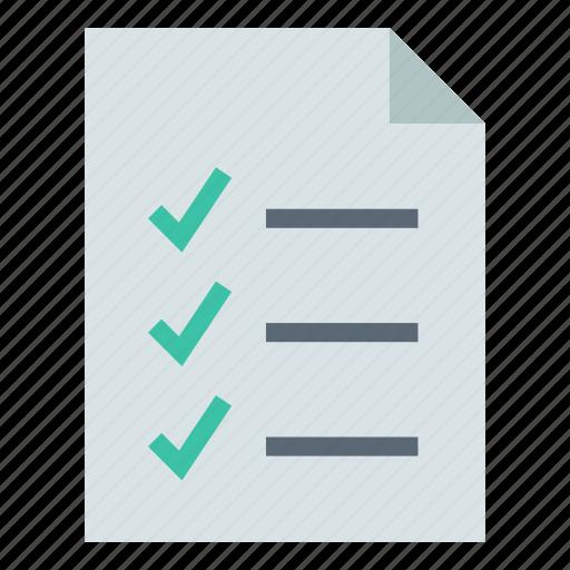 checklist, document, task icon