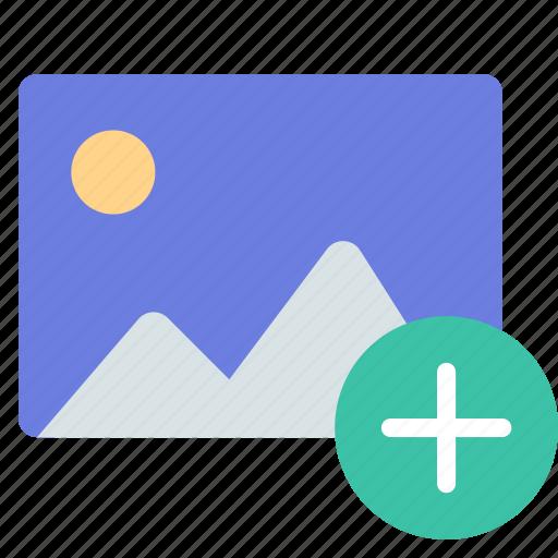 add, new, photo icon