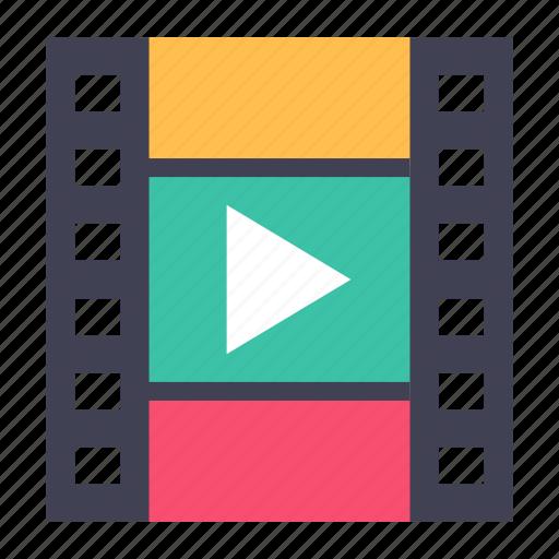 media, movie, video icon
