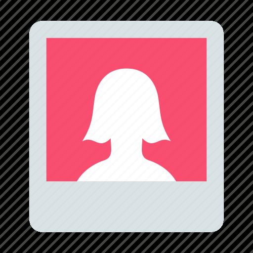 photo, portrait, woman icon