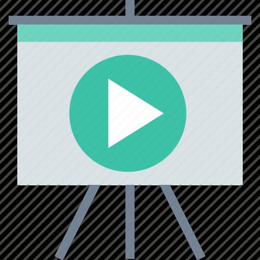 board, presentation, video icon