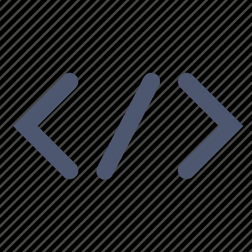 code, html, tag icon