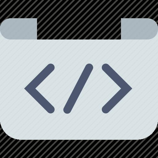 code, html, script icon