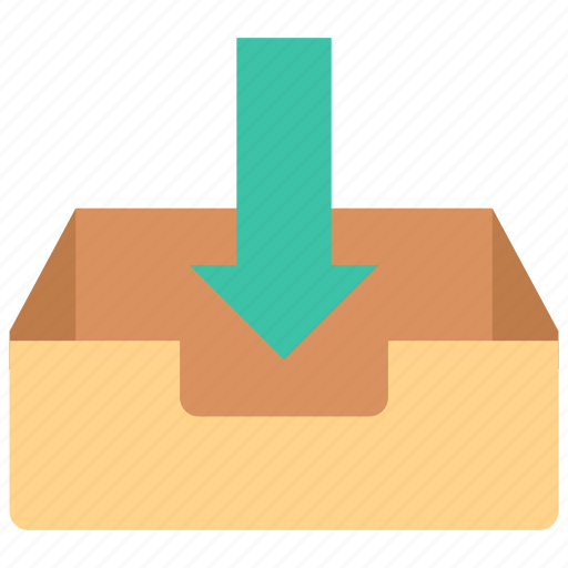 inbox, mailbox, receive icon