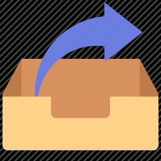 inbox, mailbox, send icon