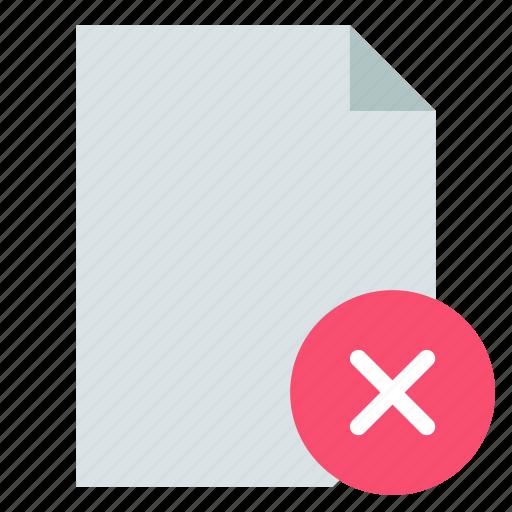 delete, document, file icon