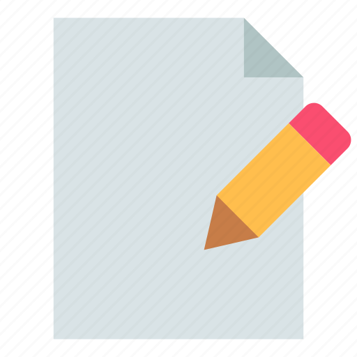 document, edit, file icon