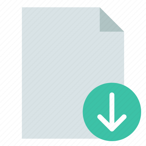 document, download, export icon