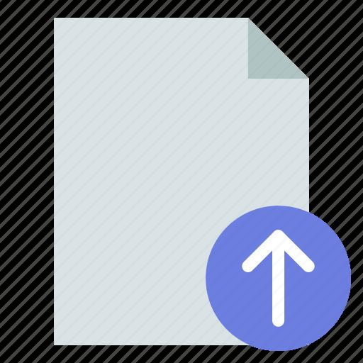 document, import, upload icon