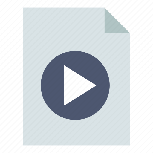file, play, video icon