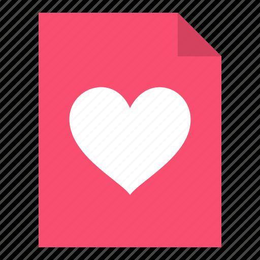 document, favorite, like icon