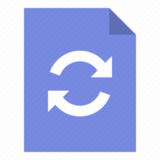 document, file, sync icon