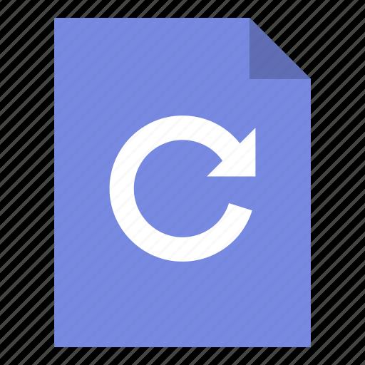 document, file, redo icon