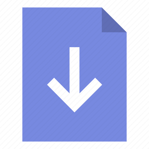document, download, export icon