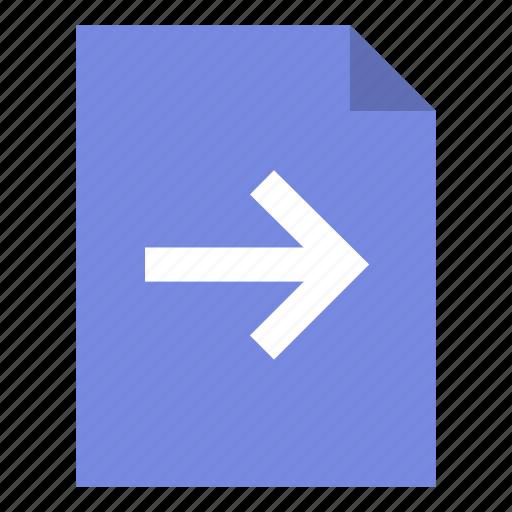 arrow, document, next icon