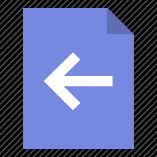Page, arrow, left icon